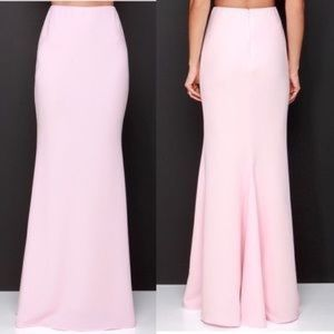 Lulu's Rubber Ducky Pale Pink bodycon maxi Skirt S